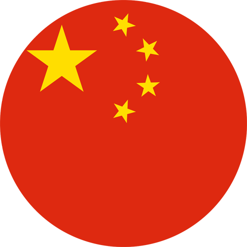 China flag round small