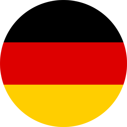 Germany flag round small