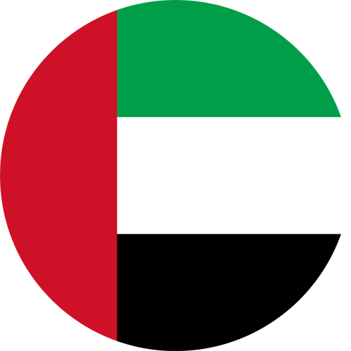 United arab emirates flag round small